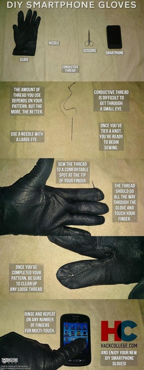 DIY Smartphone Gloves | HackCollege | Tech-o-Gadgets | Scoop.it