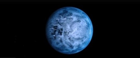 Hubble Space Telescope determined visible color of the first exoplanet (HD 189733b) - and it is BLUE! | Amazing Science | Scoop.it