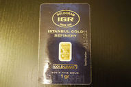 1 GRAM .999 FINE GOLD PURE 24K BULLION BAR WITH CERTIFICATE IGR IAR Istanbul | Gold deals and info | Scoop.it