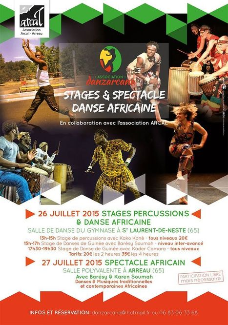 Spectacle africain à Arreau le 27 juillet   Vallée d'Aure - Pyrénées   Scoop.it
