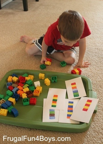 Two Preschool Math Activities with Duplo Legos - Frugal Fun For Boys   HH-LH matematikaz goxatzen-E.Infantil y primaria disfrutando de las matematicas- Enjoying mathematics   Scoop.it