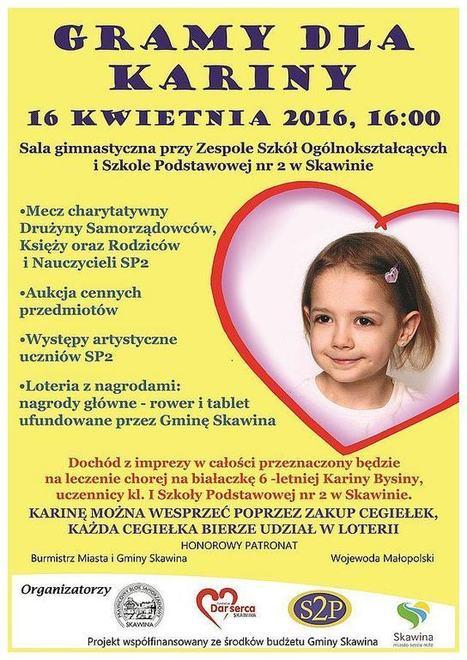 Gramy dla Karinki mecz charytatywny | Tablet w edukacji | Scoop.it