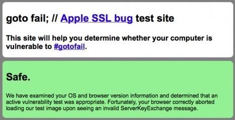 Mac Update Fixes the SSL Vulnerability and More - Apple Gazette   High Technology Threat Brief (HTTB) (1)   Scoop.it