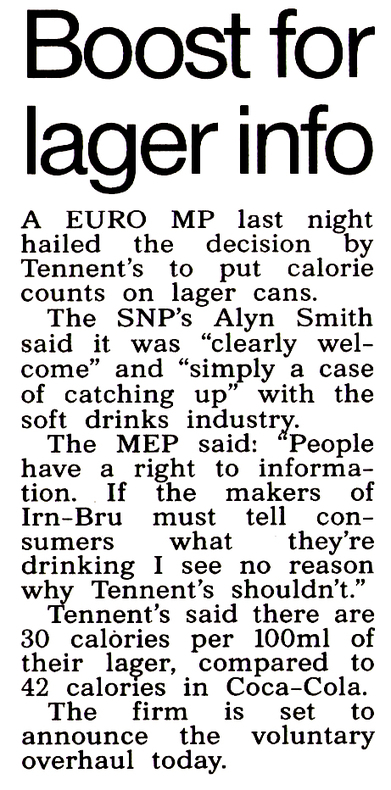 Tennent's beer belly move long overdue | My Scotland | Scoop.it