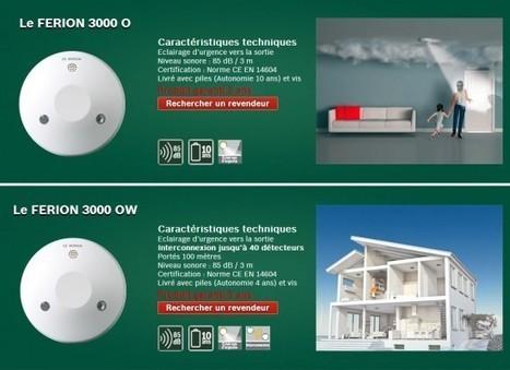 Les détecteurs de fumée Bosch FERION 3000 | Déco Tendency | Détecteur avertisseur autonome de fumée | Scoop.it