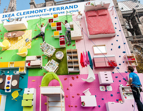 IKEA + ubi bene install climbable vertical apartment in france - designboom | architecture & design magazine | Communication and Advertising | Scoop.it
