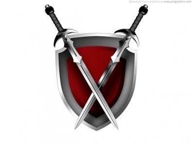 Plantilla de escudo y espadas PSD | Plantilla | to use | Scoop.it