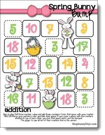 Spring Bunny Bump Games | Seasonal Freebies for Teachers | Scoop.it