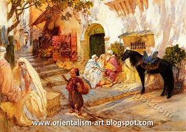 A Street In Algeria by Frederick Arthur Bridgman (American, 1847-1928) | Orientalism | Scoop.it