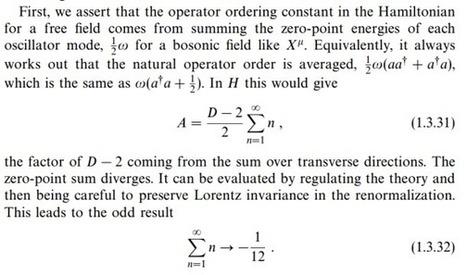Να δείξετε ότι: 1 + 2 + 3 + 4 + 5 + ... = -1/12 | omnia mea mecum fero | Scoop.it