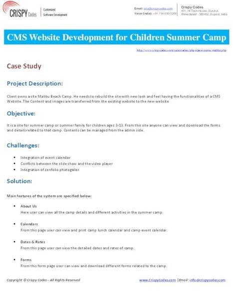 CMS Website Development for Children Summer Camp | Hi-Tech ITO(Offshore Software Development Company) | Scoop.it