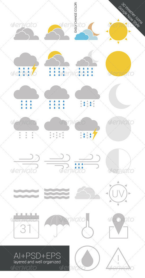 Weather Icons (Icons) | GFX Database | GFX Download | Scoop.it