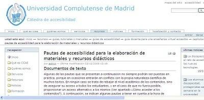 Pautas de accesibilidad para la elaboración de materiales y recursos didácticos | Aprehendizaje 2.0 | Scoop.it