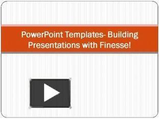 PowerPoint Templates- Building Presentations with Finesse! | Free Power Point Templates | Scoop.it