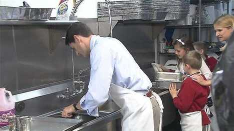 Daily Kos: Marathon Man: Paul Ryan washes clean dishes in soup kitchen photo op | Upsetment | Scoop.it