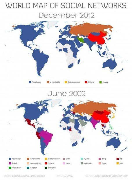 World Map of Social Networks 2009-2012 | Social Mercor | Scoop.it