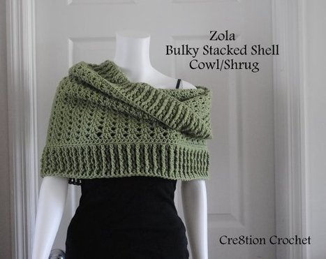 Bulky Stacked Shell Cowl and Shrug | Needle and Hook Patterns-all free | Scoop.it