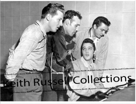 Elvis Presley, Johnny Cash, Jerry Lee Lewis & Carl Perkins - The Million Dollar Quartet at Sun Records 1956 | Keith Russell Collections | Scoop.it