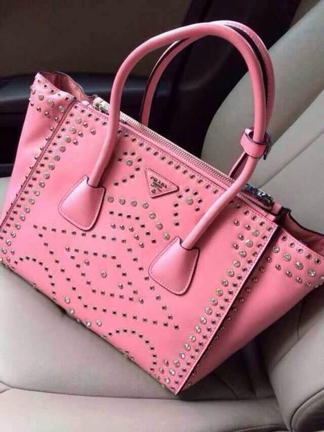 South Africa Prada Leather Diamond Swarovski Crystal Pink 2619 Luonan Non-Calf | Designer Bags | Scoop.it