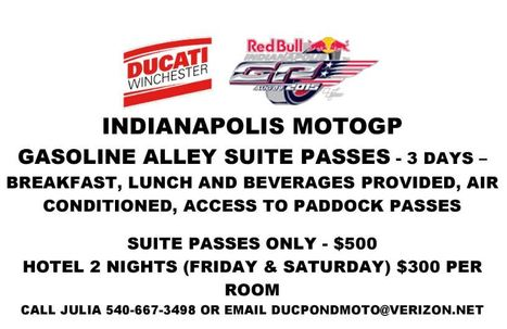 Ducati Winchester IndyGP Suite Package | Ductalk Ducati News | Scoop.it