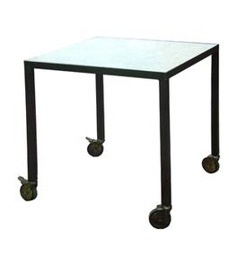 Dadra | Mesas de hierro y madera estilo industrial medida | MESA COMEDOR NEO CON RUEDAS | Muebles de estilo industrial de hierro | Scoop.it