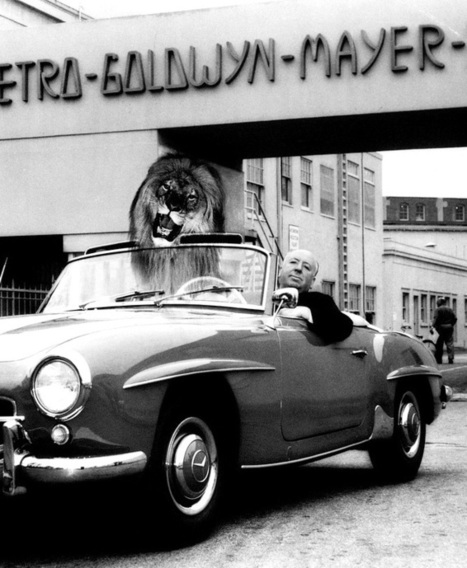 Alfred Hitchcock poses in his Mercedes Benz 190 SL... | Fortune Cookie | Classic Mercedes | Scoop.it