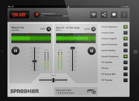 Spreaker DJ, transforma el iPad en una pequeña estación de radio | Recull diari | Scoop.it