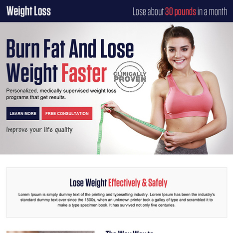 weight loss pay per click landing page design template | best landing page design | Scoop.it
