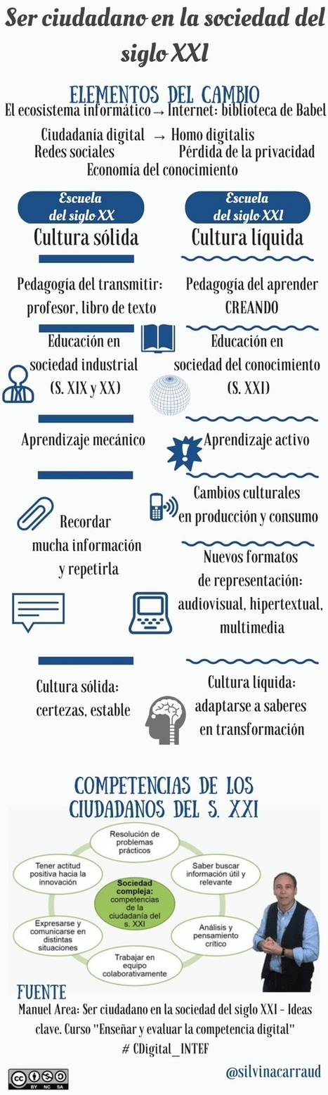 Ser ciudadano en la sociedad del siglo XXI #infografia #CDigital_INTEF | Aprendiendo a Distancia | Scoop.it