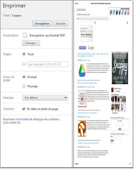 Convertir une page html en pdf sur chrome : control H & co | netnavig | Scoop.it