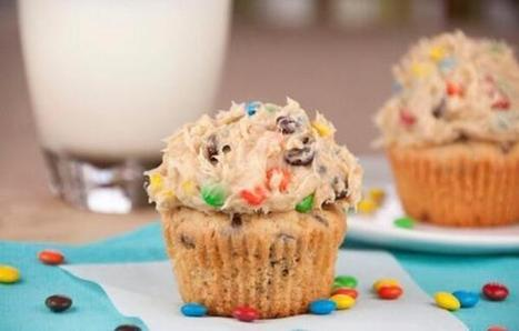 Twitter / YourFoodPorn: M&M Cookie Dough Cupcake ... | CandyASAP | Scoop.it