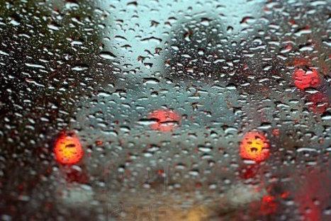 Une voiture autonome sous la pluie, ça donne ça ! | Big Data | Scoop.it