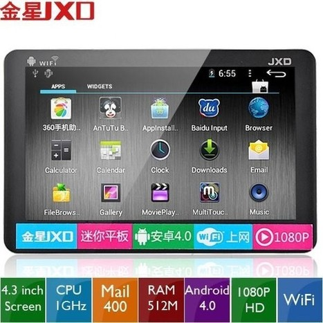 """JXD S18 4.3"""" 4GB 1080P - (JXD) S18 4.3"""" Resistive Screen Android 4.0 1080P HD Mini Tablet PC w/ WiFi CPU 1GHz RAM 512MB HD 4GB - PayPal - Free Shipping 