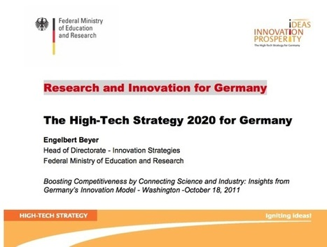 The High-Tech Strategy 2020 for Germany | The Jazz of Innovation | Scoop.it