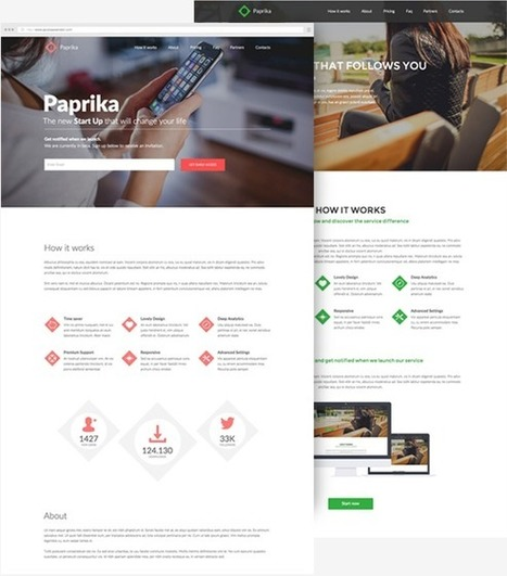 Paprika Simple and Clean Multipurpose Muse Template 2015 - Download New Themes | Sports & Entertainment | Scoop.it