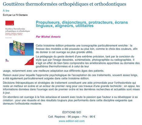 Gouttières thermoformées orthopédiques et orthodontiques | LIBRAIRIE GARANCIERE | Scoop.it