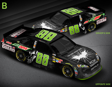 Dale Earnhardt Jr.'s 'Dew Crew' To Decide On 'Dark Knight Rises' NASCAR Paint Scheme For Michigan- SB Nation   Daily NASCAR News   Scoop.it