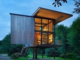 Built on Stilts: Tom Kundig's Sol Duc Cabin | sustainable architecture | Scoop.it