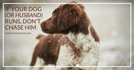If Your Dog (or Husband) Runs, Don't Chase Him - Kevin A. Thompson   Christian Marriage   Scoop.it