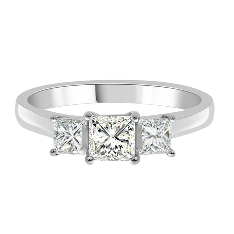 Emily Princess Cut Engagement Ring - Loyes Diamonds in white gold | Engagement Rings Dublin. | Scoop.it