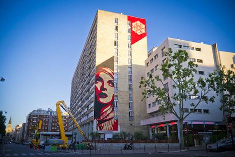 UrbA // ActU: Obey donne des couleurs au 13ème arrondissement de Paris - Street Art | The Architecture of the City | Scoop.it