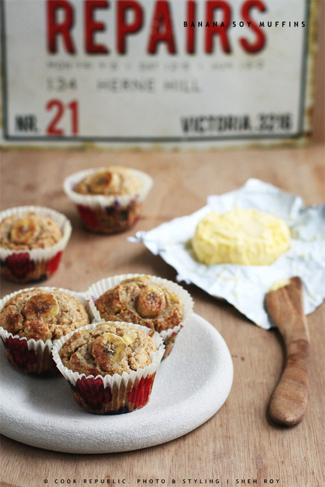 Banana Soy Muffins | Cook Republic | Veggie & vegan desserts | Scoop.it