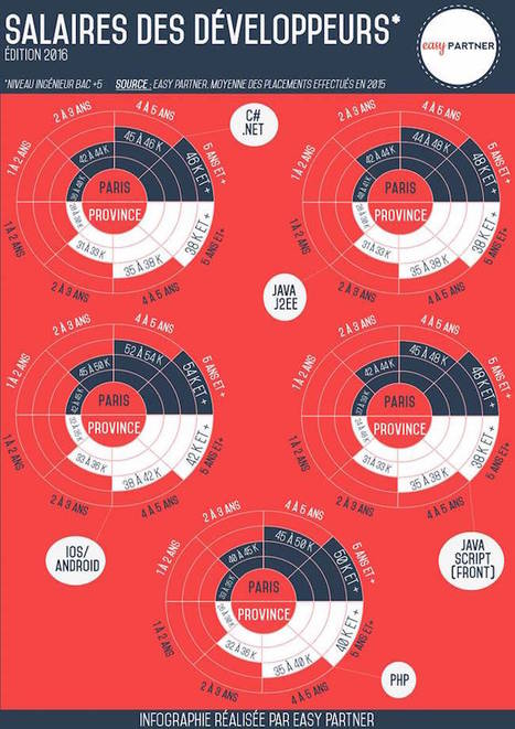 Le salaire des développeurs en region | Les infographies ! | Scoop.it