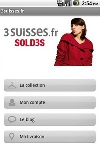 3Suisses lance son application Androïd | Application Android | Scoop.it