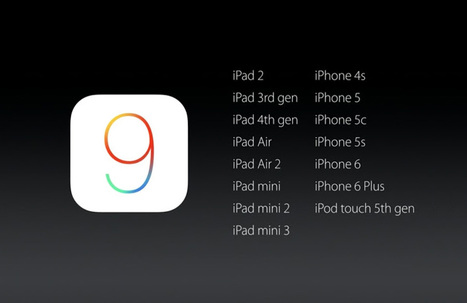 iOS 9 Compatible Devices List: Runs As Smoothly On Older iPhones As On Newer Ones | All Things iPhone, iPad and Apple | Scoop.it