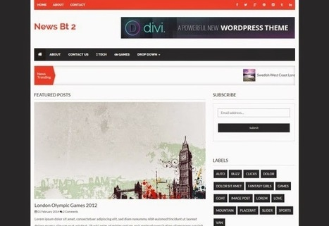 NewsBT 2 Column News Blogger Template | Blogspot templates | Scoop.it