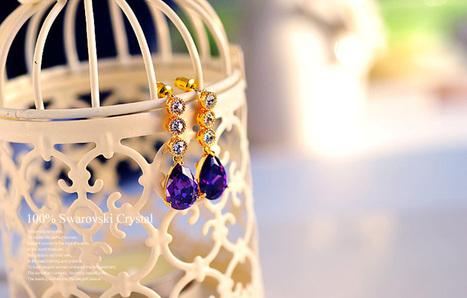 Fashion Sparkling Teardrop-shaped Swarovski Crystal Jewelry Earrings | Women's Earrings | Scoop.it
