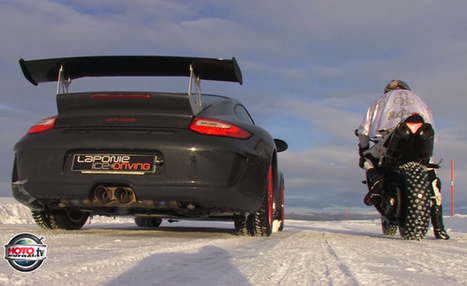 Car Vs Bike, In The Snow + Video | California Flat Track Association (CFTA) | Scoop.it