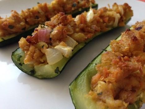 Zucchine ripiene di ceci al forno | Alimentazione Naturale, EcoRicette Veg e Vegan | Scoop.it