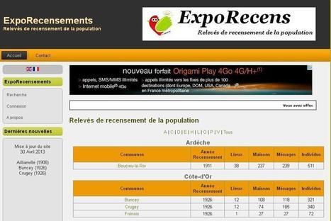 ExpoRecensements : Relevés de recensement de la population   Rhit Genealogie   Scoop.it